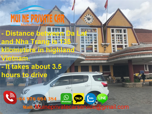 Transfer From Dalat to Nha Trang by Private Car