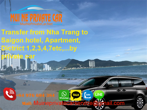 Transfer From Nha Trang to Saigon by private car rental