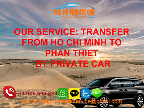 Private car rental Ho Chi Minh to Phan Thiet