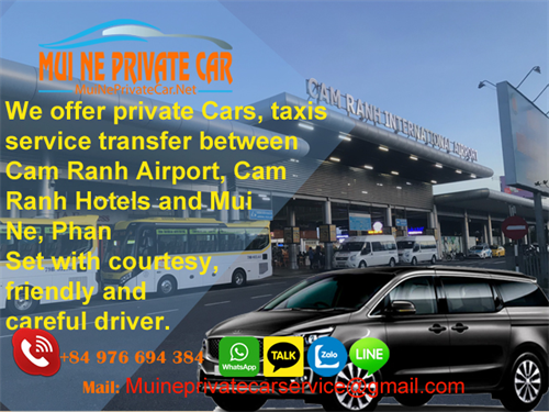 TRANSFERS CAM RANH AIRPORT (CXR) TO MUI NE BY PRIVATE CAR