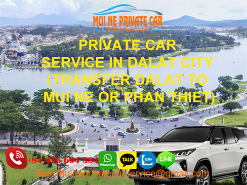 Transfer from Dalat to Mui ne by private car rental